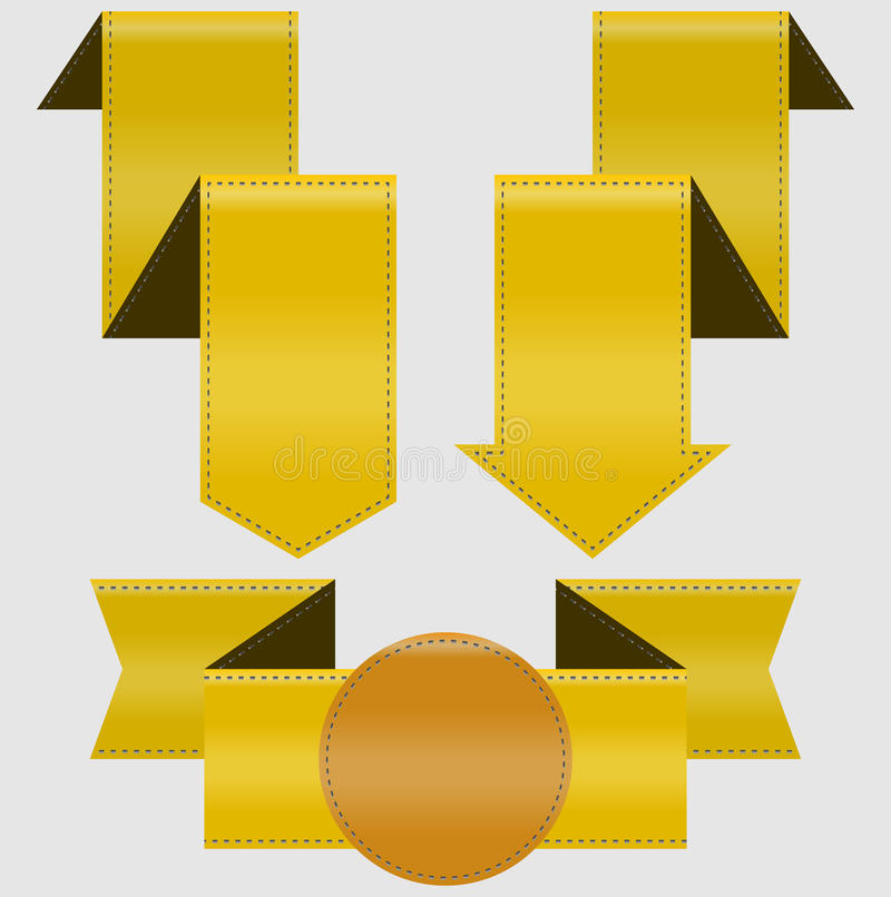 Download Set of ribbons stock vector. Image of sign, choice, gold - 24394990