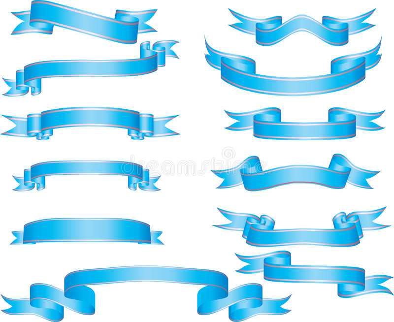 Download Set of ribbons stock vector. Image of image, computer - 5269704