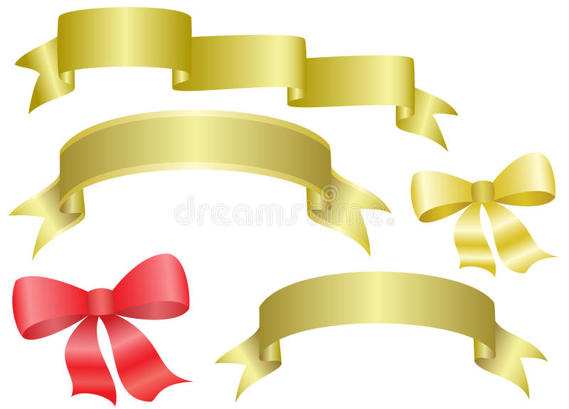 Download Set Of  Ribbons And Bows - Vector Stock Vector - Illustration of vector, decor: 18336403