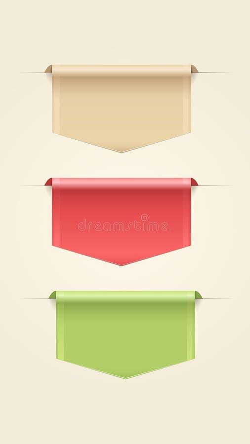 Download Set of Web Ribbons stock vector. Image of label, ribbon - 29914609