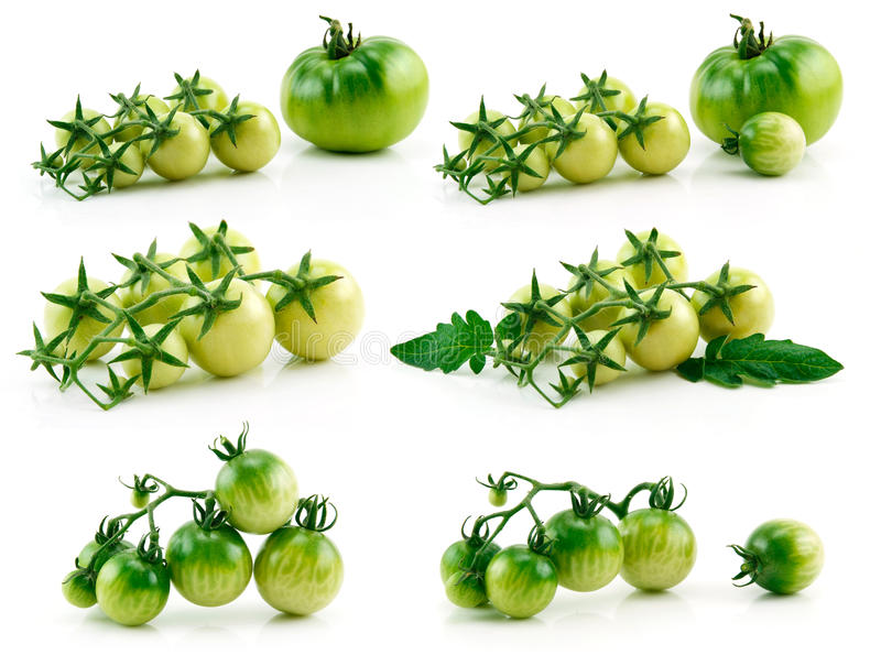 Download Set Of Ripe Yellow And Green Tomatoes Isolated Stock Photo - Image: 11612078
