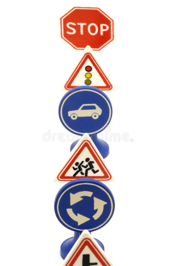 Set of road sign royalty free stock photography