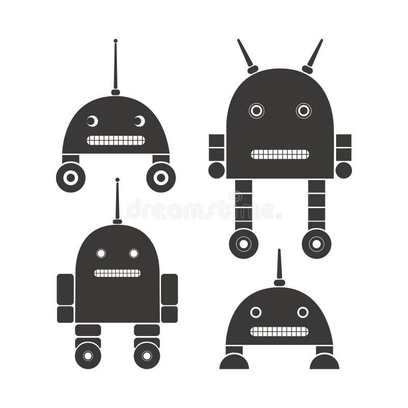 Set roboty ilustracji