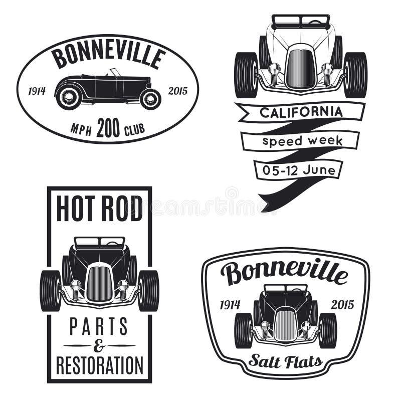Set rocznika gorącego prącia ikony ilustracji