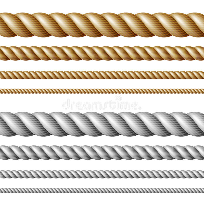 Set of ropes stock illustration