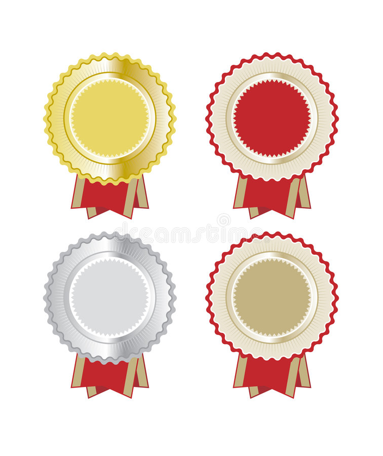 Set of Rosettes stock illustration