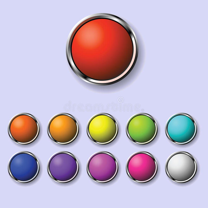 A set of round buttons stock image