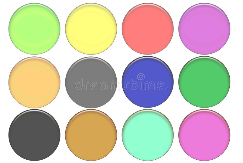 Download Set Round Color Glass Buttons Stock Illustration - Illustration of photo, buttons: 2074288