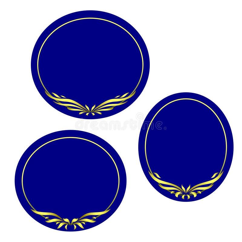 Set of round frames