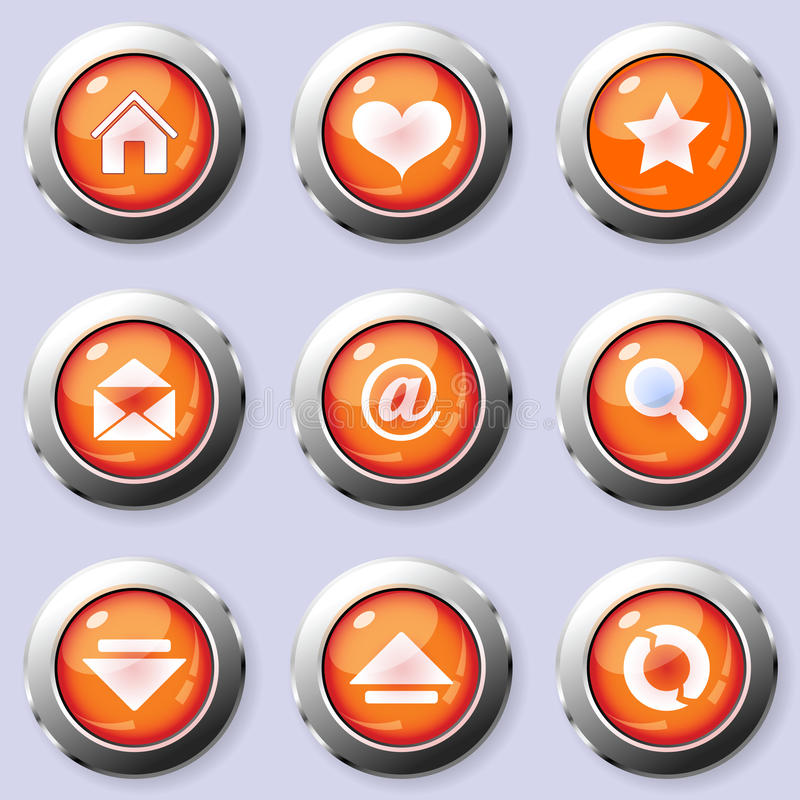 Download A Set Of Round Internet Buttons Stock Vector - Illustration: 19812737
