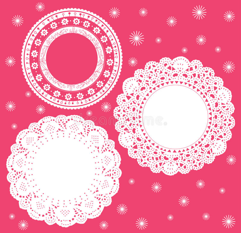 Download Set for round lace doily. stock vector. Image of celebration - 15857049