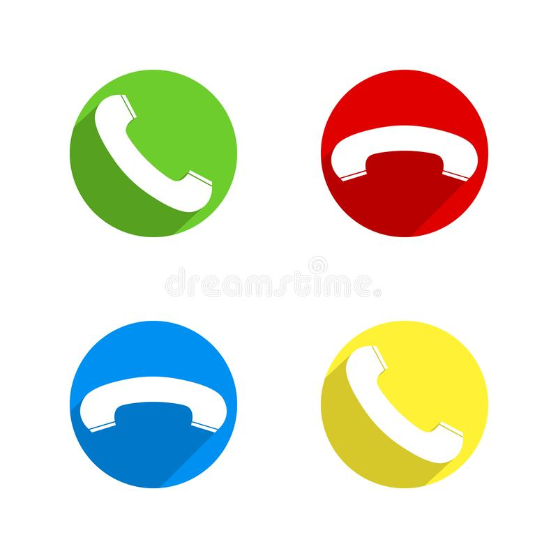 Handset Phone In Circle Icon  Phone Support Icon Vector