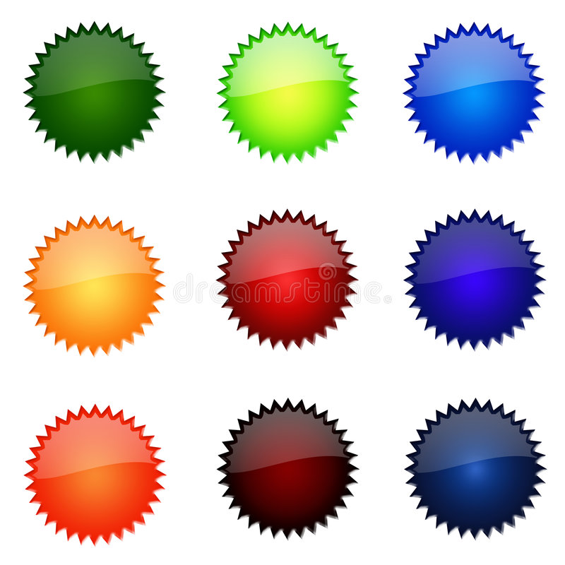 Download Set Of Round Website Buttons Stock Illustration - Illustration of spikes, assorted: 5319783
