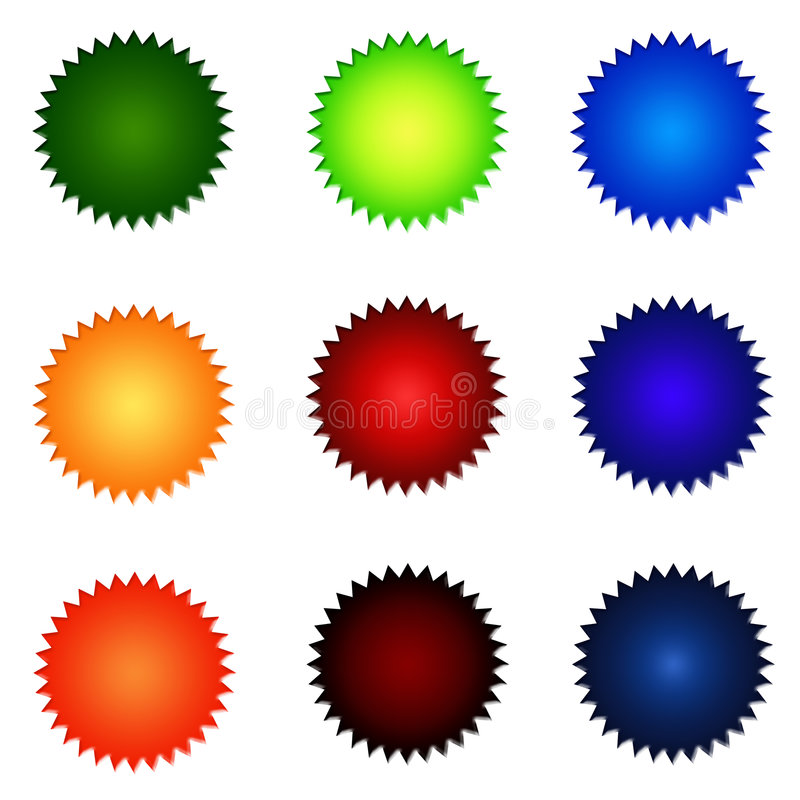 Download Set Of Round Website Buttons Stock Illustration - Image: 5446010