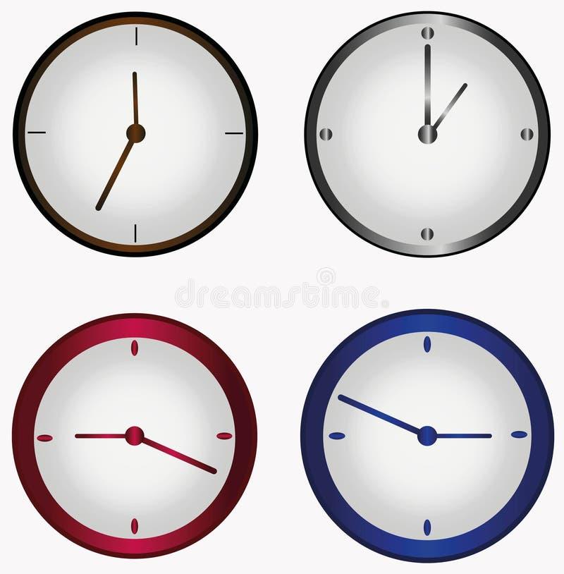 Set round zegar obrazy stock