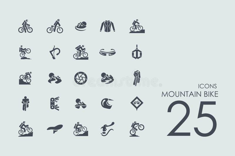 Set rower górski ikony royalty ilustracja