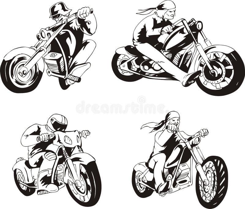Set rowerzyści ilustracja wektor