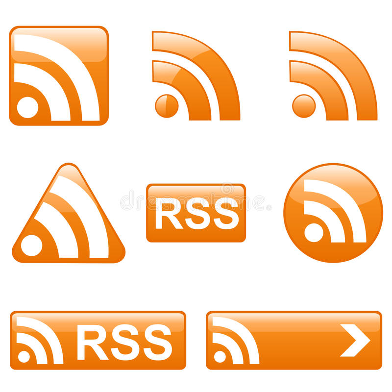 Download Set Of RSS Buttons Royalty Free Stock Photos - Image: 13492408