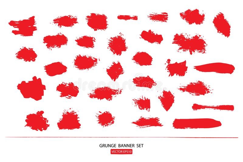 Set rysujący ręka malował porysowanego ilustracja szablon Grunge Halloweenowy tło z krwionośnym splats sztandarów abstrac royalty ilustracja