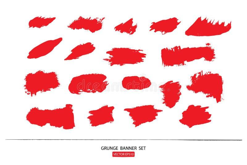 Set rysujący ręka malował porysowanego ilustracja szablon Grunge Halloweenowy tło z krwionośnym splats sztandarów abstrac ilustracji