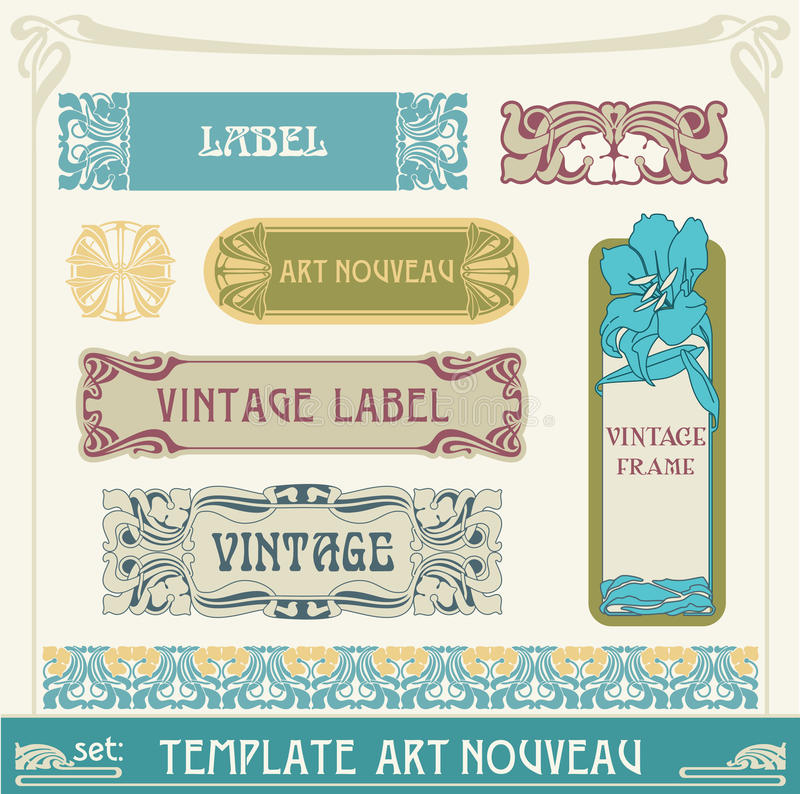 Free Set S Art Nouveau Royalty Free Stock Photo - 19970905