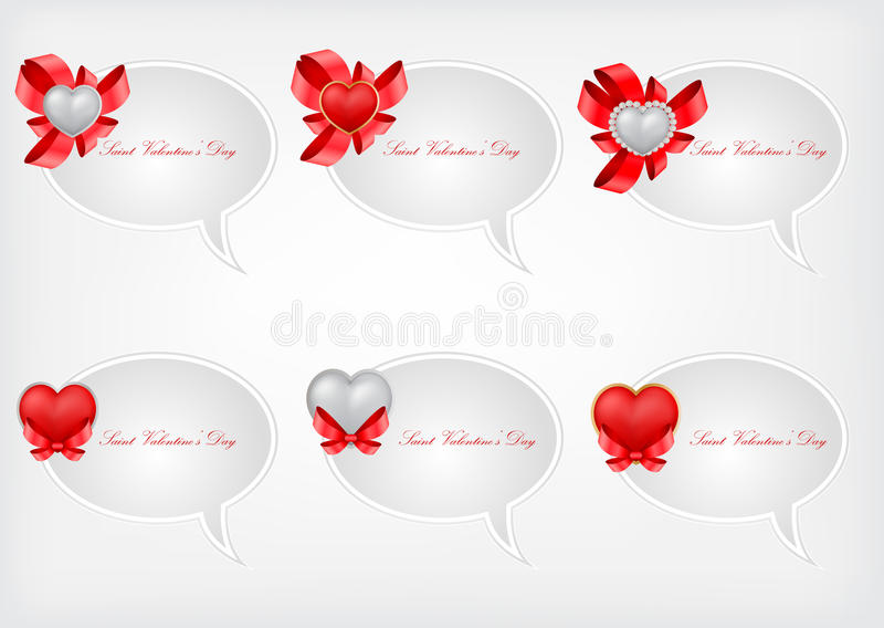 Set of Saint Valentine s speech bubbles