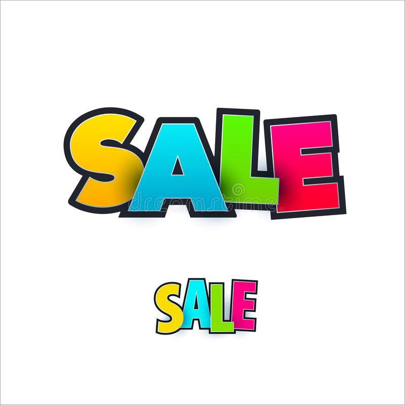 Download Set Of Sale Banner Template Design. Special Offer, Colourful Letters For Shopping, Mall, Trade, Retail. Stock Vector - Illustration of season, colourful: 114367826
