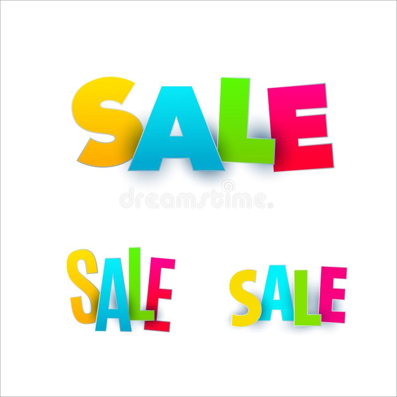 Download Set Of Sale Banner Template Design. Special Offer, Colourful Letters For Shopping, Mall, Trade, Retail. Stock Vector - Illustration of sale, modern: 114367804