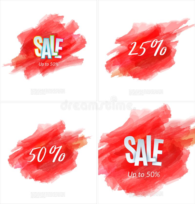 Download Set Of Sale Banner Template Design. Special Offer, Colourful Letters For Shopping, Mall, Trade, Retail. Stock Vector - Illustration of sticker, layout: 114367933