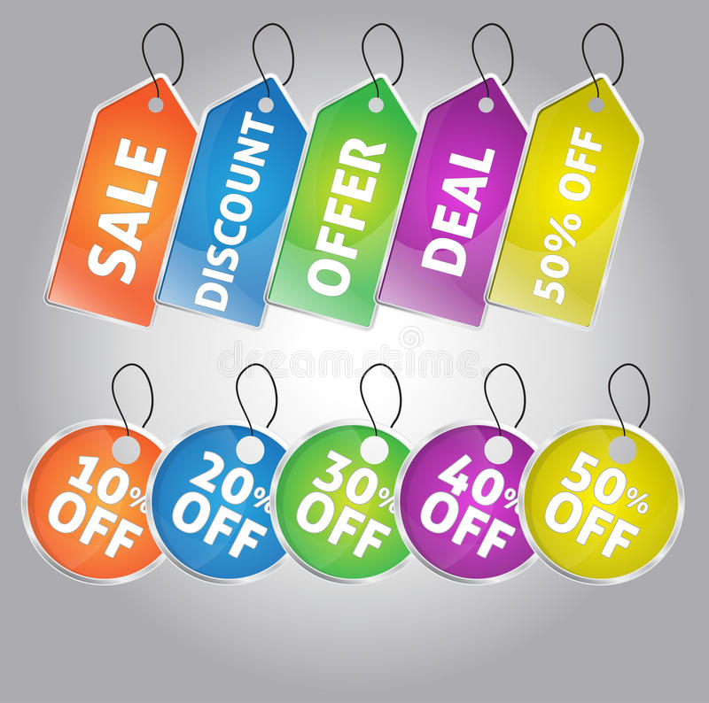 Download Set Of Sale And Discount Tags Stock Vector - Image: 34351634