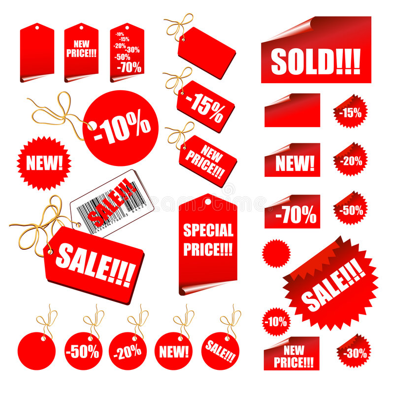 Set of sale labels. This illustration can be used for your design