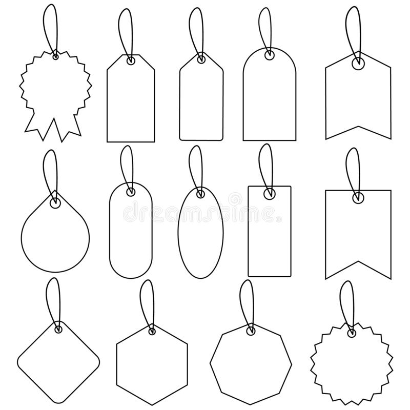 Set of sale tags and labels illustration., template shopping labels Vector . Blank, discount and price tags on paper. Special offe. R.  For web sites or mobile stock illustration