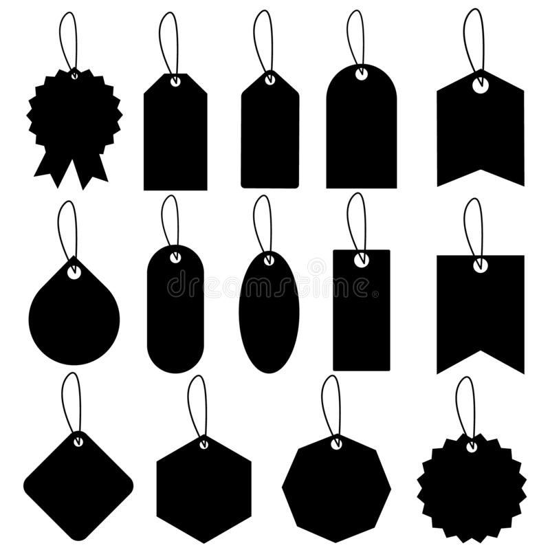 Set of sale tags and labels illustration., template shopping labels Vector . Blank, discount and price tags on paper. Special offe. R.  For web sites or mobile royalty free illustration
