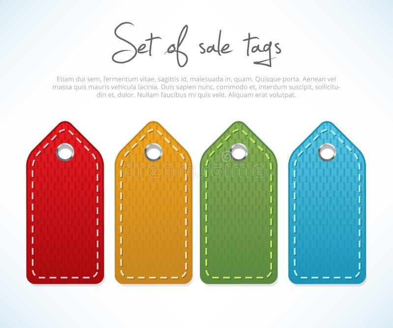 Set of sale tags royalty free illustration