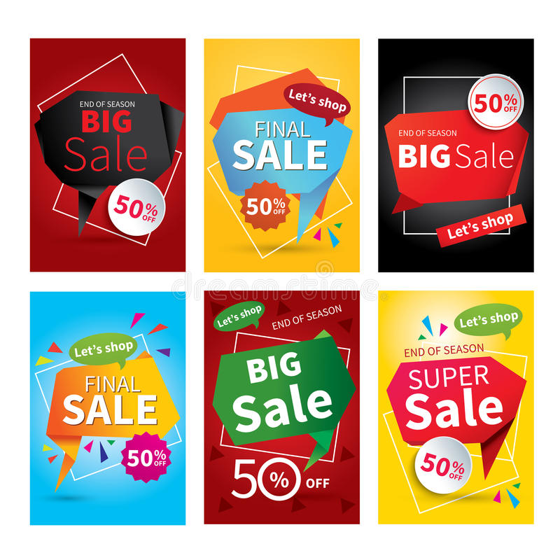 Set of sale website banner templates.Social media banners. For online shopping. Vector illustrations for posters, email and newsletter designs, ads, promotional vector illustration