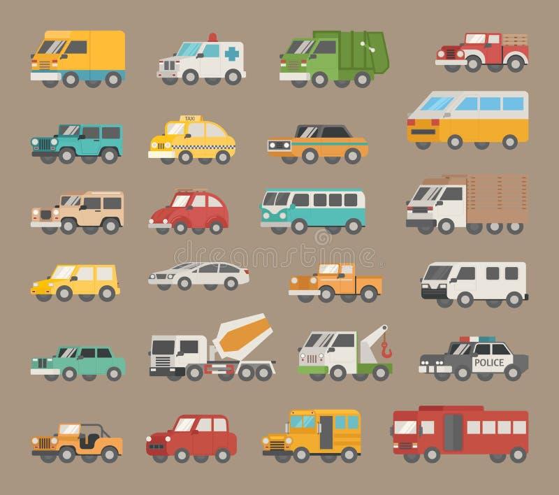 Set samochodowa ikona ilustracja wektor