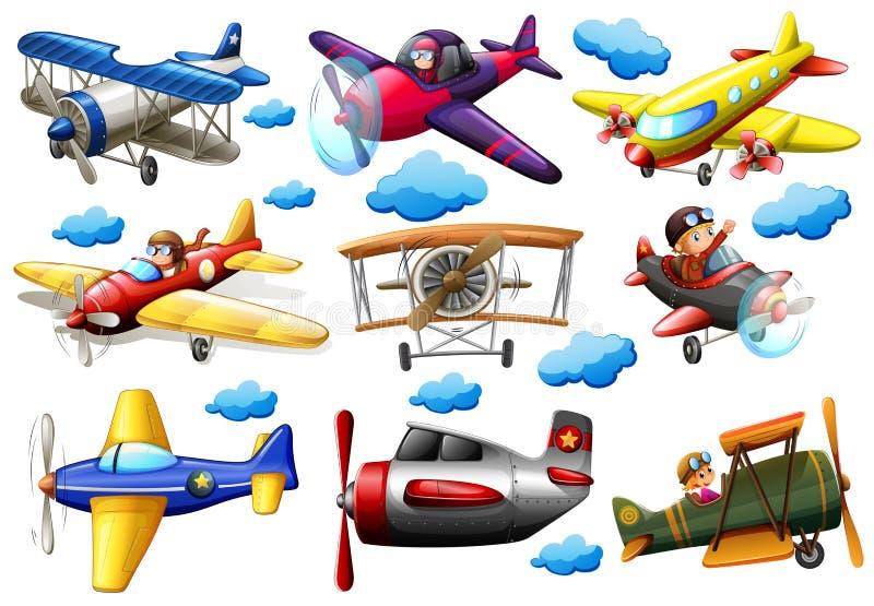 Set samoloty ilustracja wektor