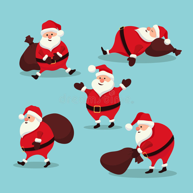 Set Santa Claus stock images