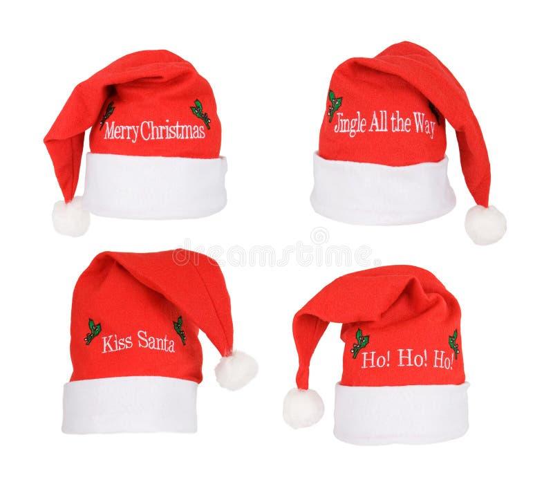 Set of Santa Hats royalty free stock images
