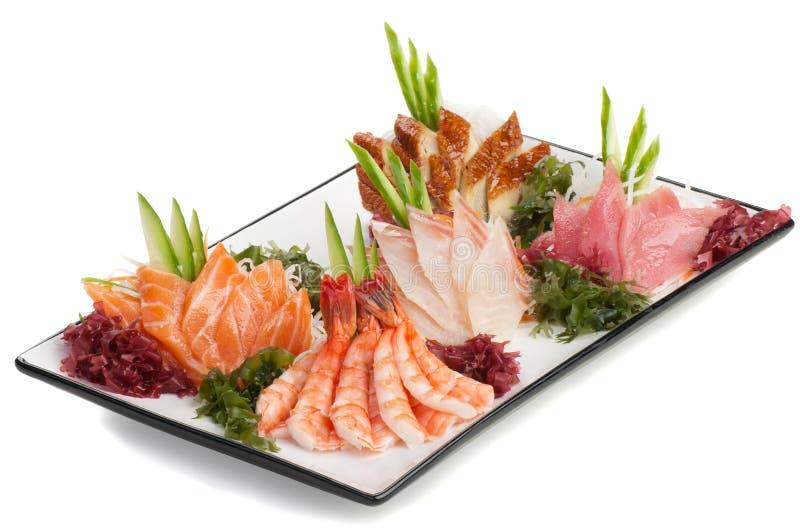 Download Set Of Sashimi On Daikon With Seaweed, Cucumber Stock Image - Image: 22864313