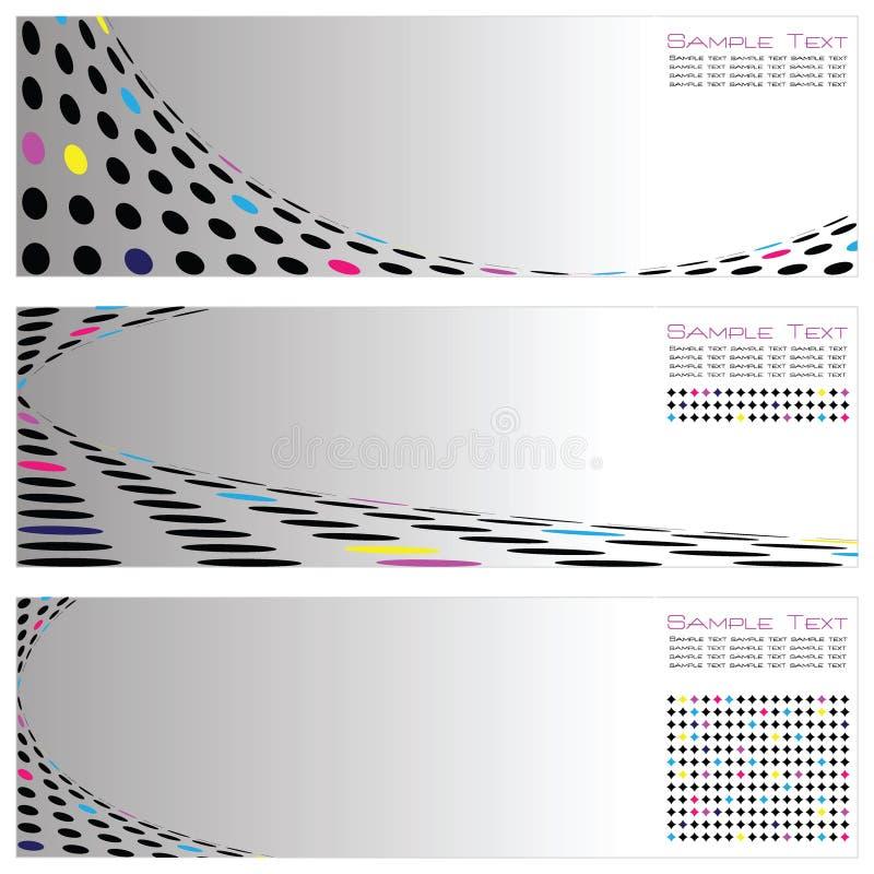 Set Schablonen-des Auszuges Backg der Qualitäts-drei lizenzfreie abbildung