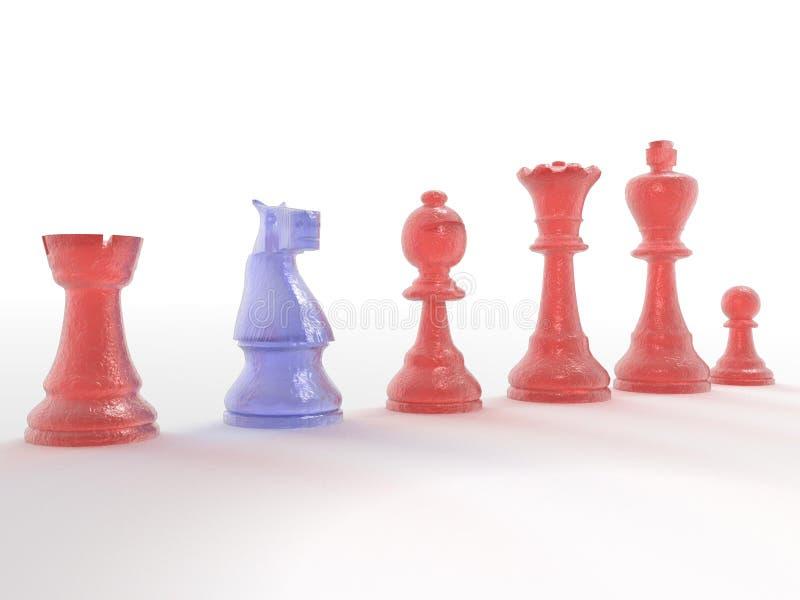 Set Schachstücke lizenzfreie stockfotos