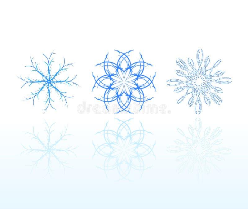 Set Schneeflocken stock abbildung