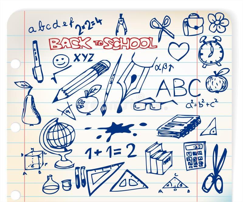 Download Set Of School Doodle Illustrations Stock Illustration - Image: 16121723