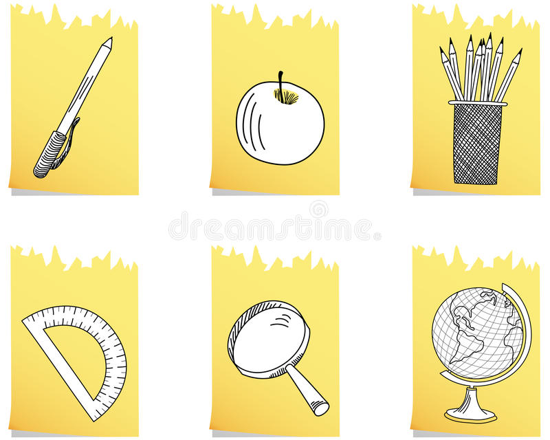 Set of school icon royalty free illustration