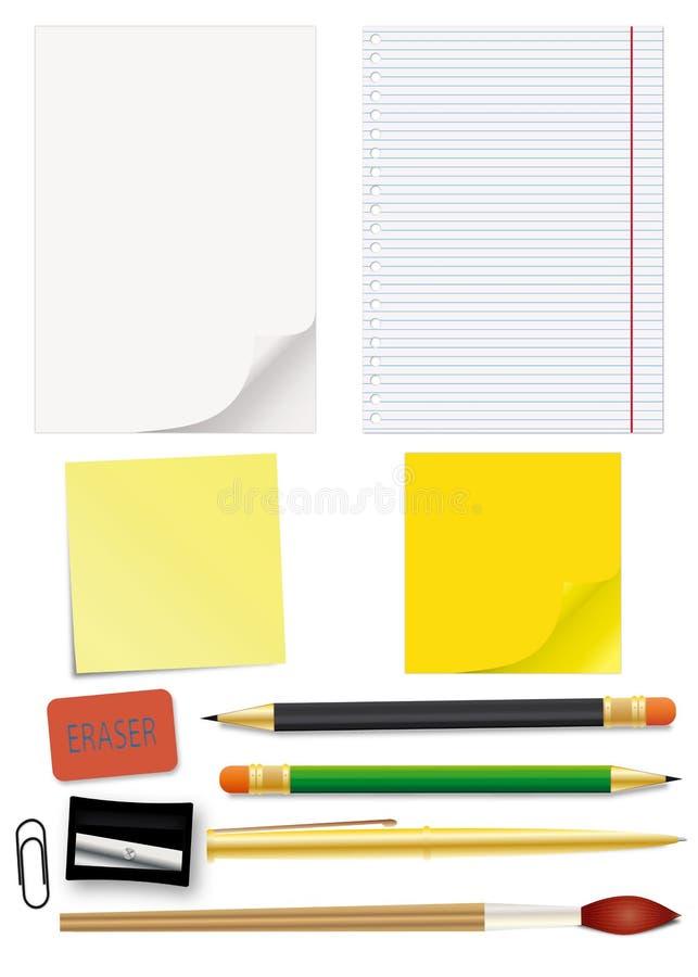 Download Set of school supplies stock vector. Image of empty, exercize - 14468316