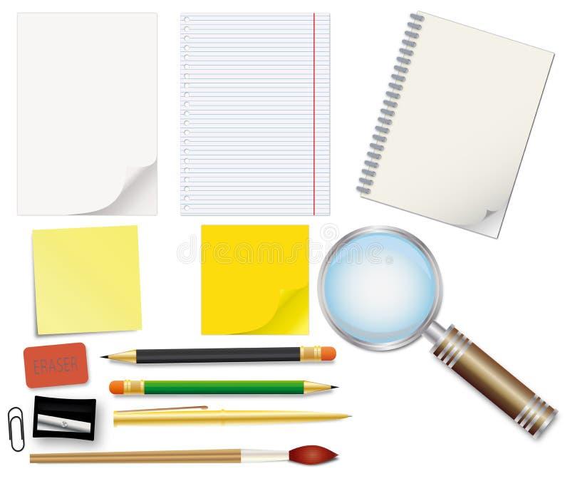 Set Of School Supplies Stock Photography