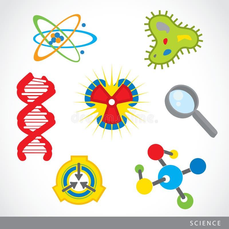 Set of science stuff icon Lab cartoon vector stock illustration