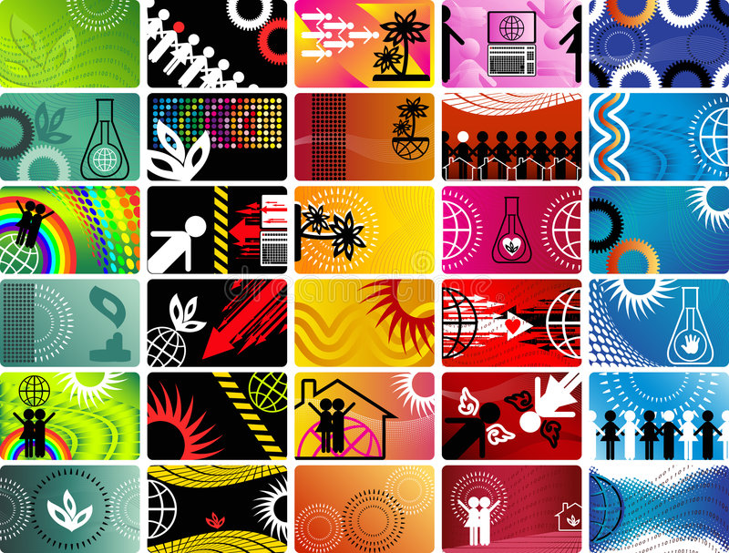 Set Of Scientific Vector Cards Royalty Free Stock Image
