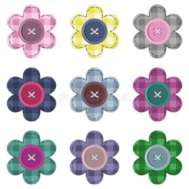 Download Set with scrapbook flowers stock illustration. Image of object - 25837801
